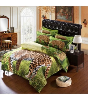 Jungle leopard Bed sheets