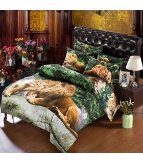 Les draps de lit Jungle lion