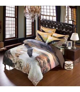 Les draps de lit d'aigle sauvage