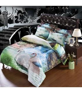 Cygnes romantiques draps de lit