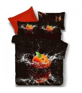 Le lenzuola nere di stampa arancione