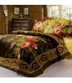 Les draps de lit de fleurs Vintage