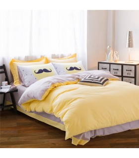 Feuilles de lit jaune modernes