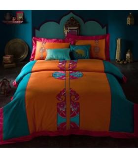 Draps de lit brodés orientaux