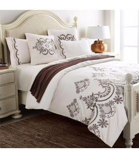 Embroidery vintage brown bed sheets