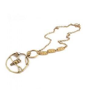 Retro Halskette mit Eulenanhänger
