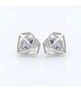 Boucle d'oreille en forme de diamant