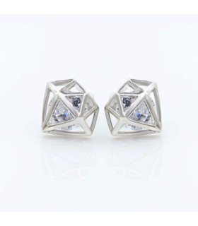Diamond shape earring