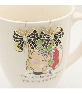 Sweet bow black earrings