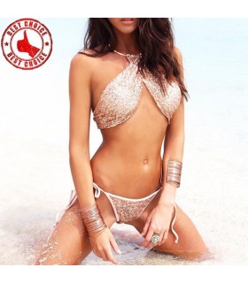 Halter super sexy sequin swimsuit