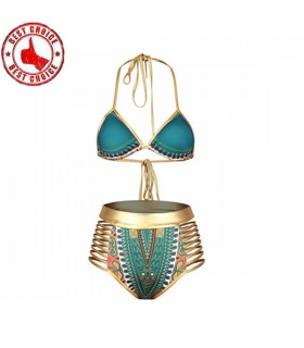 African style colored and gold swimwear