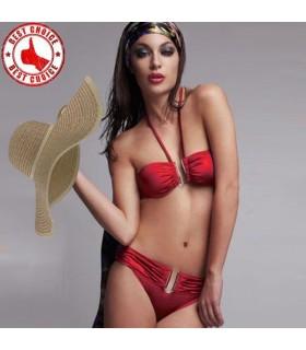Sexy glühend roter Bikini