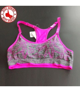Adjustable strapes fitness pink bra