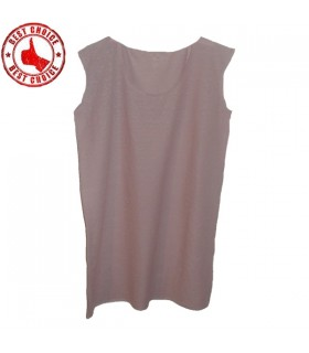 Linen pink dress large