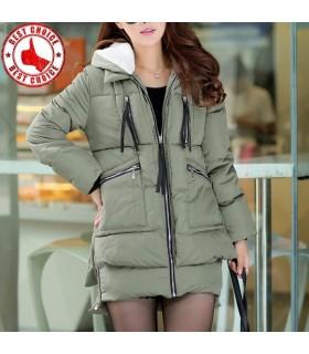 Giacca invernale cotone con cappuccio cappotto imbottito