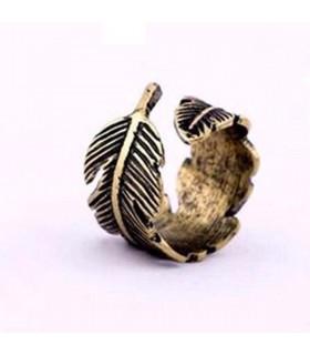 Piuma Bohemian anello a forma di