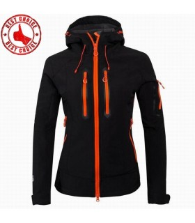 Black tech fleece clothing waterproof softshell