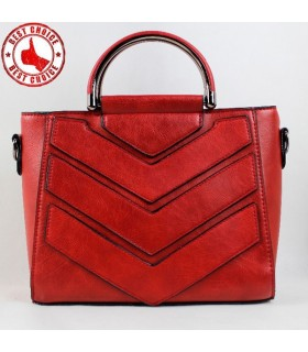 Shoulder red leather bag