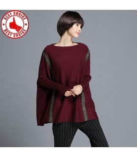 Large poncho cloak batwing sleeve sweater