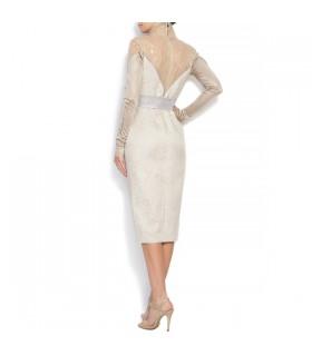Ivory Seide weichen Baumwollspitze Zug zurück sexy Hochzeitskleid