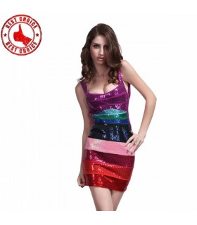Sequin rainbow dress