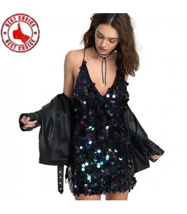 d9349b7f44b26f Sexy schwarzes Pailletten Kleid Größe S