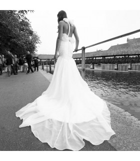 Wunderschönes romantisch rückenfreies sexy Hochzeitskleid