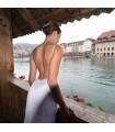 Super sexy rückenfreies kristallernes moderne Hochzeitskleid
