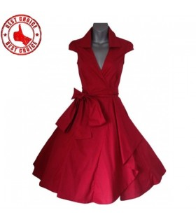 Vintage Stil schickes roten Kleid