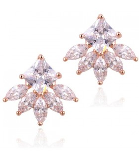 18K gold plated snowflake earrings