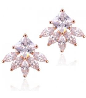 Oro 18 carati placcato orecchini fiocco di neve