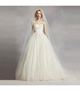 Long Reach up strass velo da sposa