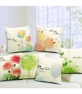 Heureux linge de vie oreiller six de couverture