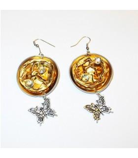 Recycle fashion butterfly earrings