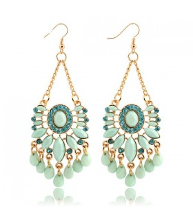 Sky blue water drop earrings