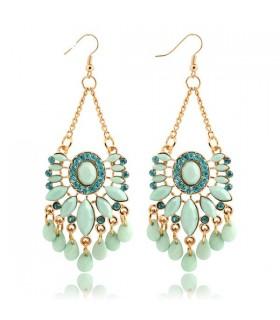 Sky blue water drop earrings