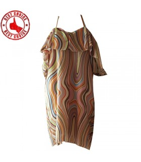 Farbige Linien Kleid