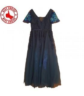 Abend blaues Kleid