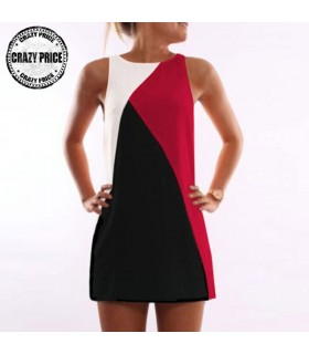 Mini colorblock dress