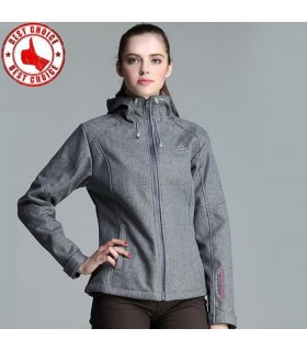 Thermal hiking  grey softshell jacket