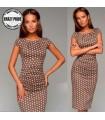 Brown dots satin dress
