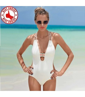 White backless monokini