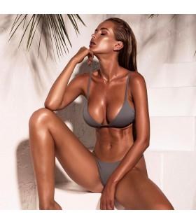 Brasilianischer einfacher grauer Bikini