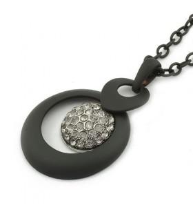 Élégant collier moderne noir