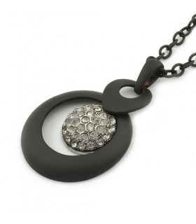 Elegante collana moderna nera