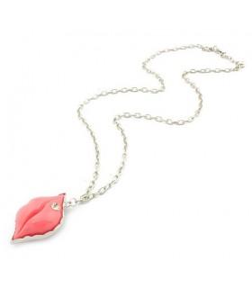 Halskette mit süßen rosa Lippen