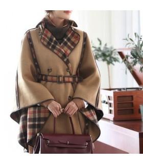 Manteau poncho de laine élégante