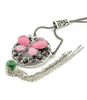 Runde Schmetterling Halskette