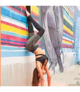 Mesh elastische schnell trocknende Sport Leggings