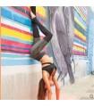 Leggings sport à séchage rapide en maille élastique